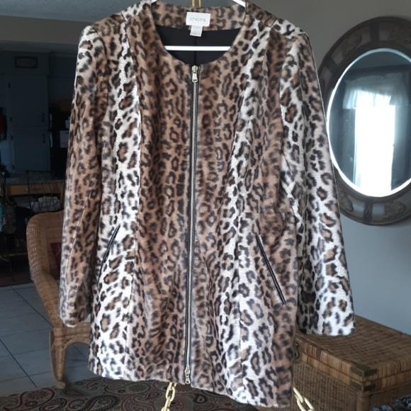 Chico's Jackets & Blazers - Chico leopard skin jacket